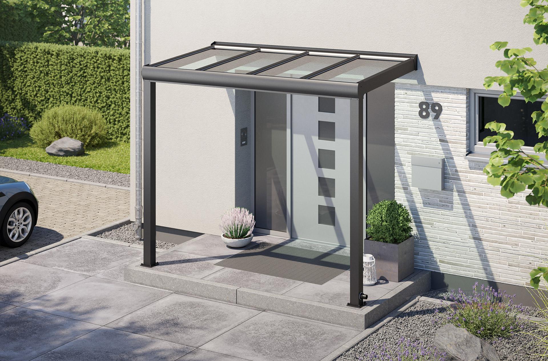 TERRAvita VSG Haustür Vordach 220,220 x 20,220m, VSG Glas