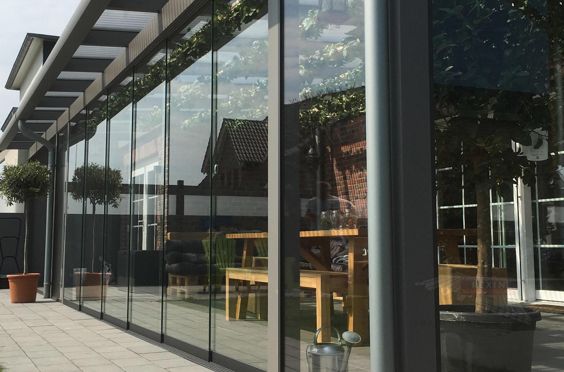 Terraslide Glasschiebewand 4m Breite 6 Spurig Vorbereitet Für