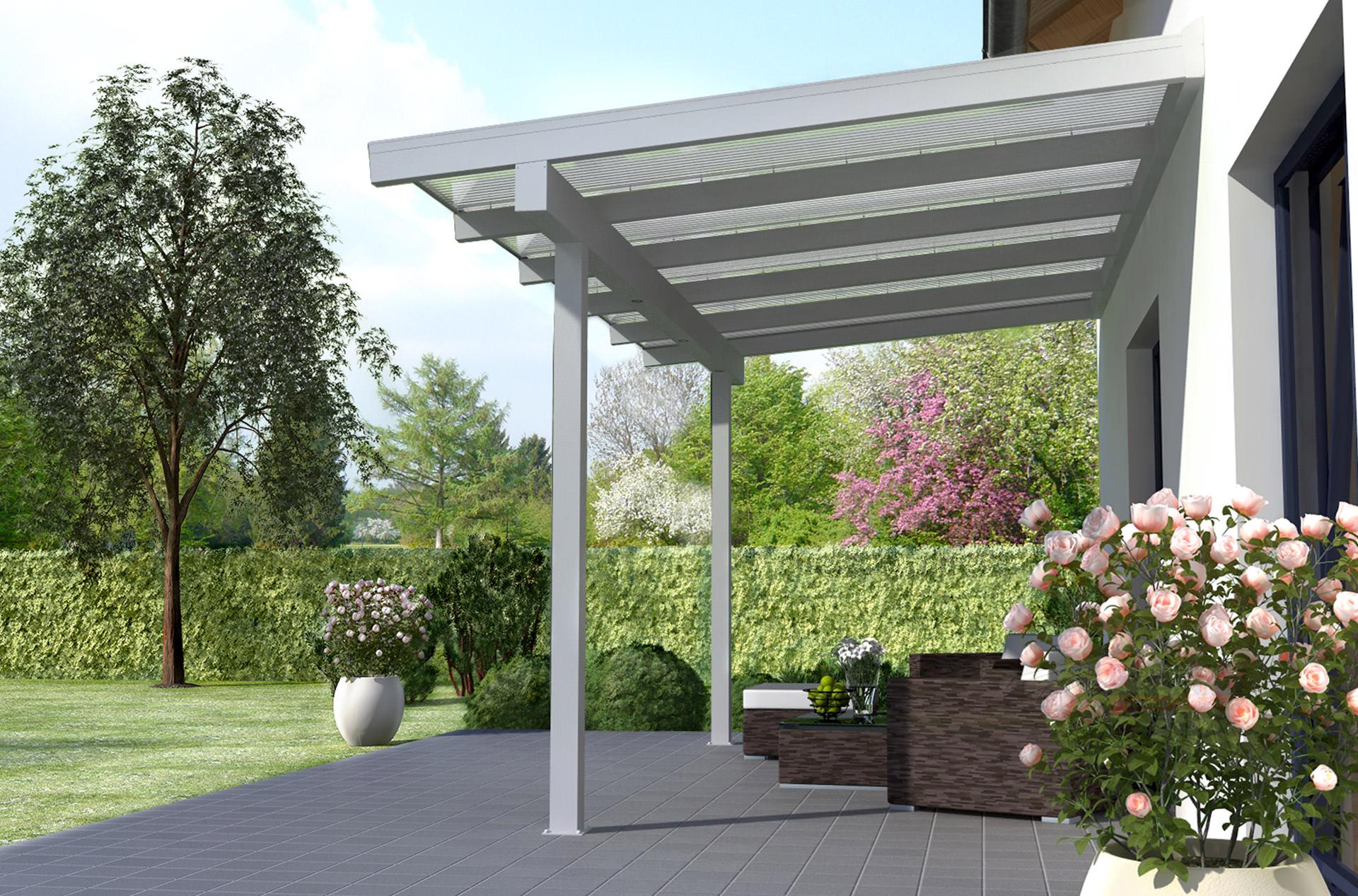 Terraclassic Alu Terrassenuberdachung 5m X 2m Terrasse De