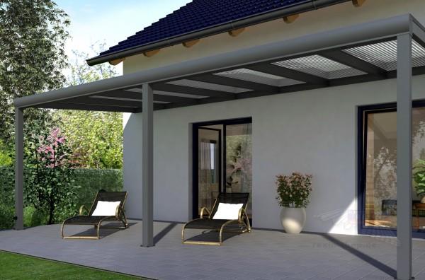 terrapremium alu terrassen berdachung 7m x 4m. Black Bedroom Furniture Sets. Home Design Ideas
